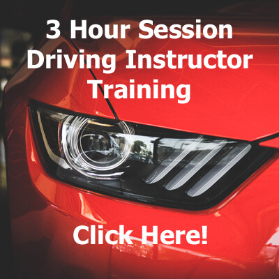3 Hour Driving Instructor Training Session