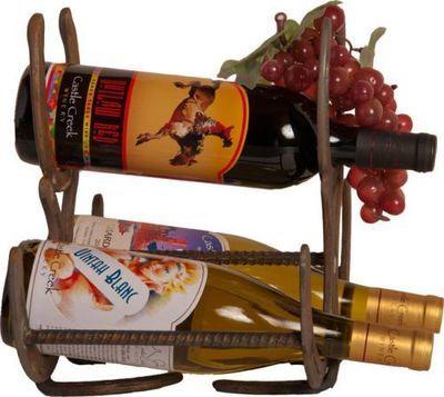 3 Bottle Horseshoe Wine Rack