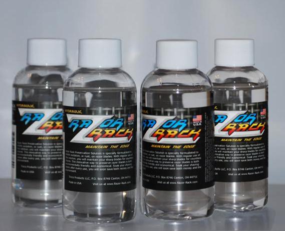 Razor Rack Preservation Solution 4 oz. Year Supply