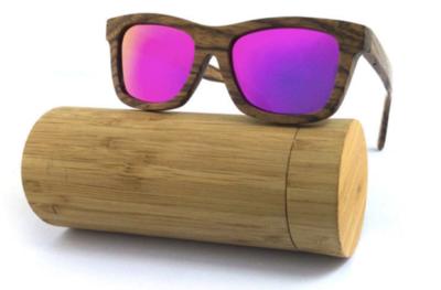 Wild Classic: Zebra wood with polarised purple lens