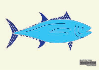 Blue Fin Tuna Flag
