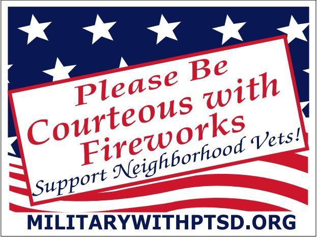 Firework Sign for Supporter of Veterans
