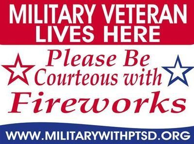 Military Veteran Firework Sign