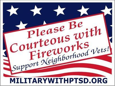Firework Sign for Supporter of Veterans