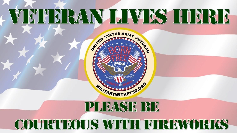 ARMY FIREWORK SIGN