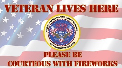 Marines Firework Sign