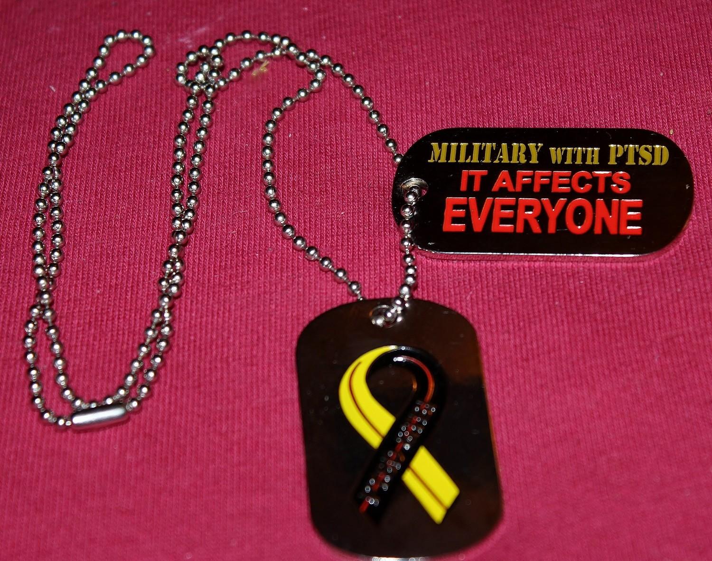 Military with PTSD Dog Tag Set