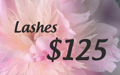 Lashes $125