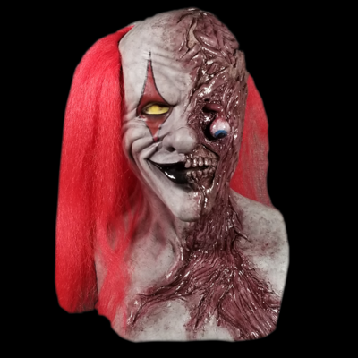 """The """"Two Face"""" Zombie Clown Silicone Mask"""
