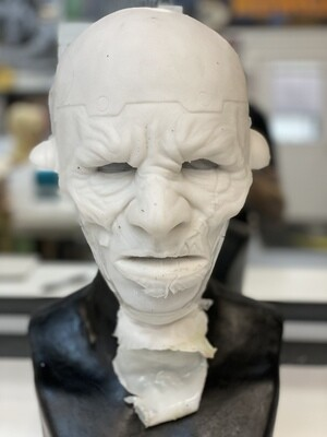 """""""Frank"""" Silicone Mask- IN STOCK! (Flawed/Damaged/Unpainted)(See description)"""