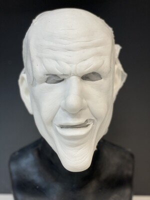"""""""Trickster""""  Silicone Half Mask- IN STOCK! (Flawed/Damaged/Unpainted)(See description)"""