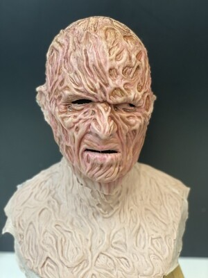 """""""Freddy"""" Silicone Mask- IN STOCK! (Flawed/Damaged/Unpainted)(See description)"""