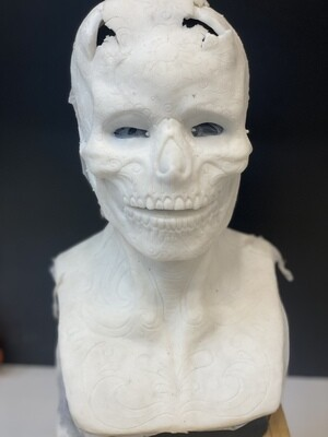 """""""Sugar Skull"""" Silicone Mask- IN STOCK! (Flawed/Damaged/Unpainted)(See description)"""