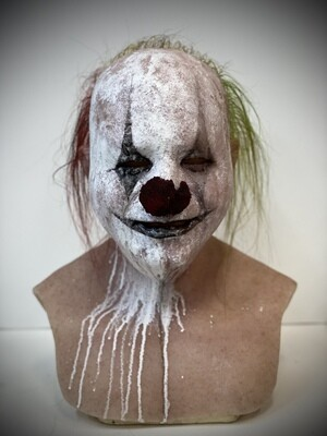 Jerry Clown w/ Hair Premium Silicone Mask- IN STOCK & Ready to Ship 2-3 days!