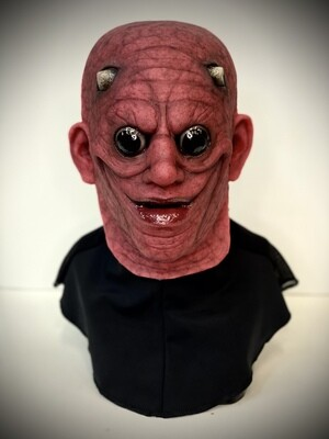 Red Mad Man w/ Horns Silicone Half Mask- IN STOCK & Ready to Ship 2-3 days!