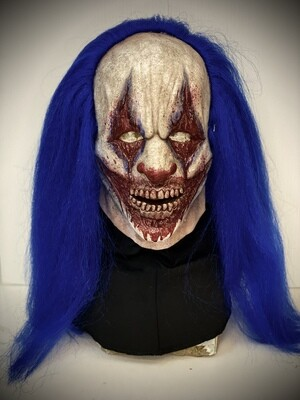 Brutus Clown w/ Hair Silicone Half Mask- IN STOCK & Ready to Ship 2-3 days!