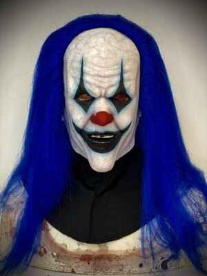 Trickster w/ Blue Hair Silicone Half Mask- IN STOCK & Ready to Ship 2-3 days!