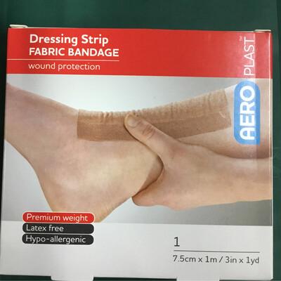 Dressing Strip Fabric bandage 7.5cm X 1m