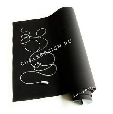 Меловая пленка/обои для рисования мелом черные самоклеющиеся 90см*10м