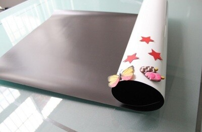 Магнитно-маркерная пленка белая, матовая, для рисования маркером, самоклеющаяся, 120см*2м
