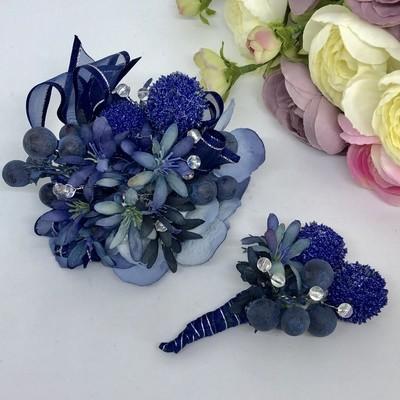 ALEXI - Blue Formal Corsage Set