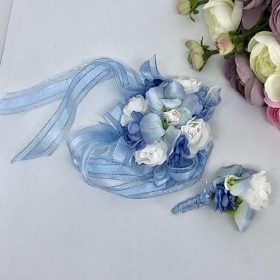 MAREE - Blue Formal Corsage Set
