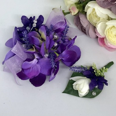 JACLYN - Purple Formal Corsage Set