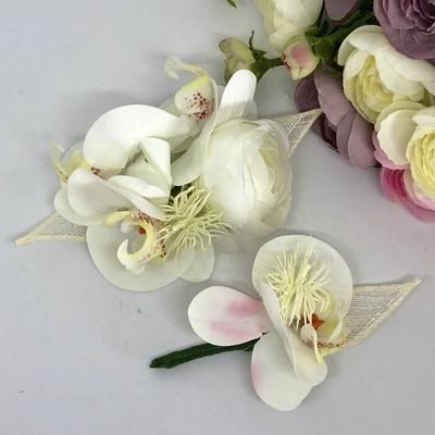 MACEY - White Formal Corsage Set