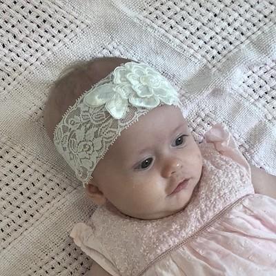 PEARL -  Baby Toddler Wedding Bridal Headband