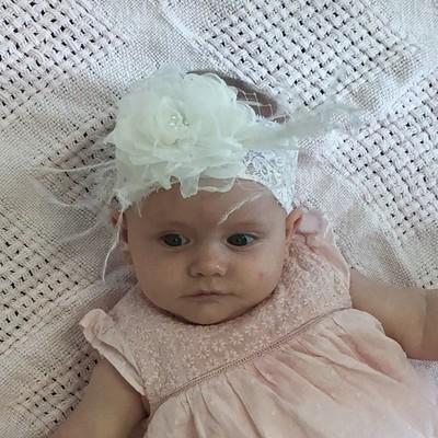 TAHLIA - Baby Toddler Wedding Bridal Headband