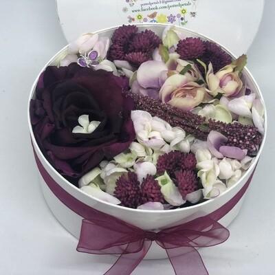 BRENDA - Burgandy  Floral Gift Box