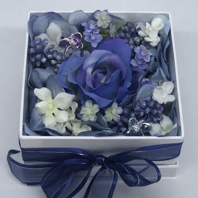 NANCY - Blue & White Floral Gift Box