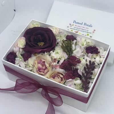 MONA - Burgandy  Floral Gift Box