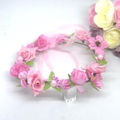 PENNY - Silk Hot Pink Flower Crown