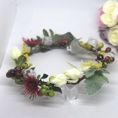 NEVE - Red and Yellow Native Flower Crown