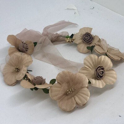 WILLOW - Brown Flowers Flower Crown