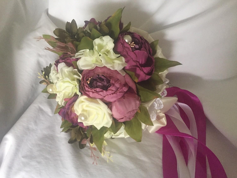 WENDY - Wine Peony Bridal Bouquets