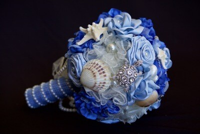 DORY - Blue and Pearl Beach Bridal Bouquet