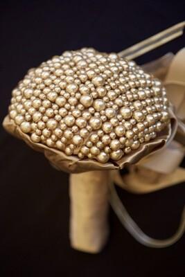 GEMMA - Gold Pearl Bridal Bouquet