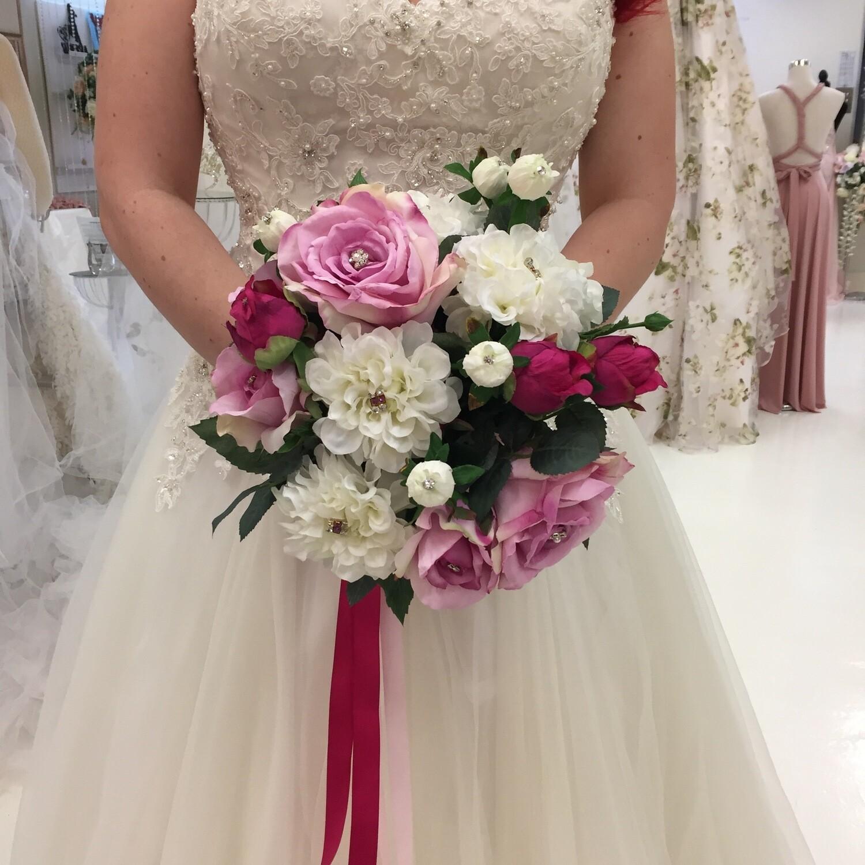 ASHLEY - Pink Floral Bridal Bouquet