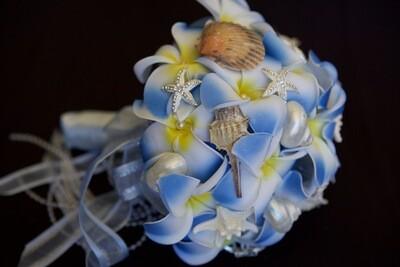 SIENNA - Blue Frangipani Beach Bridal Bouquet