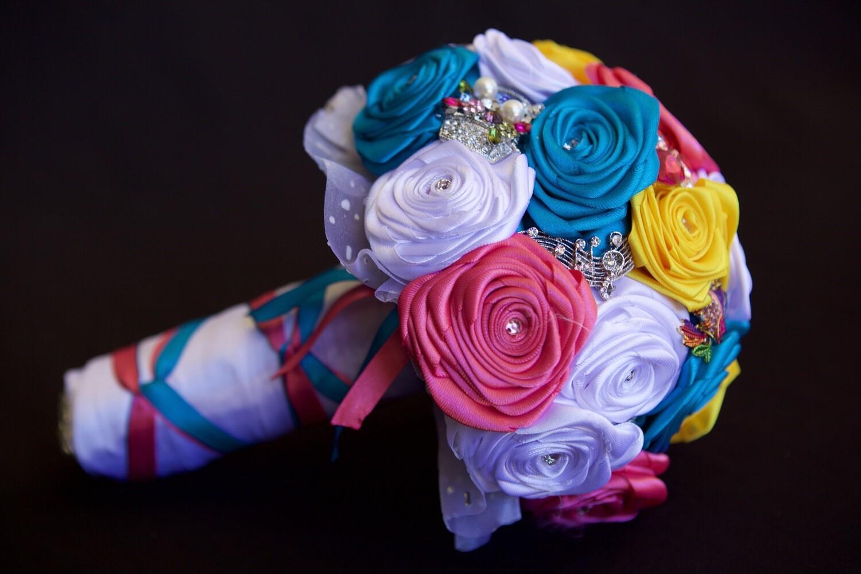 NANCY - Bright Coloured Bridal Bouquet