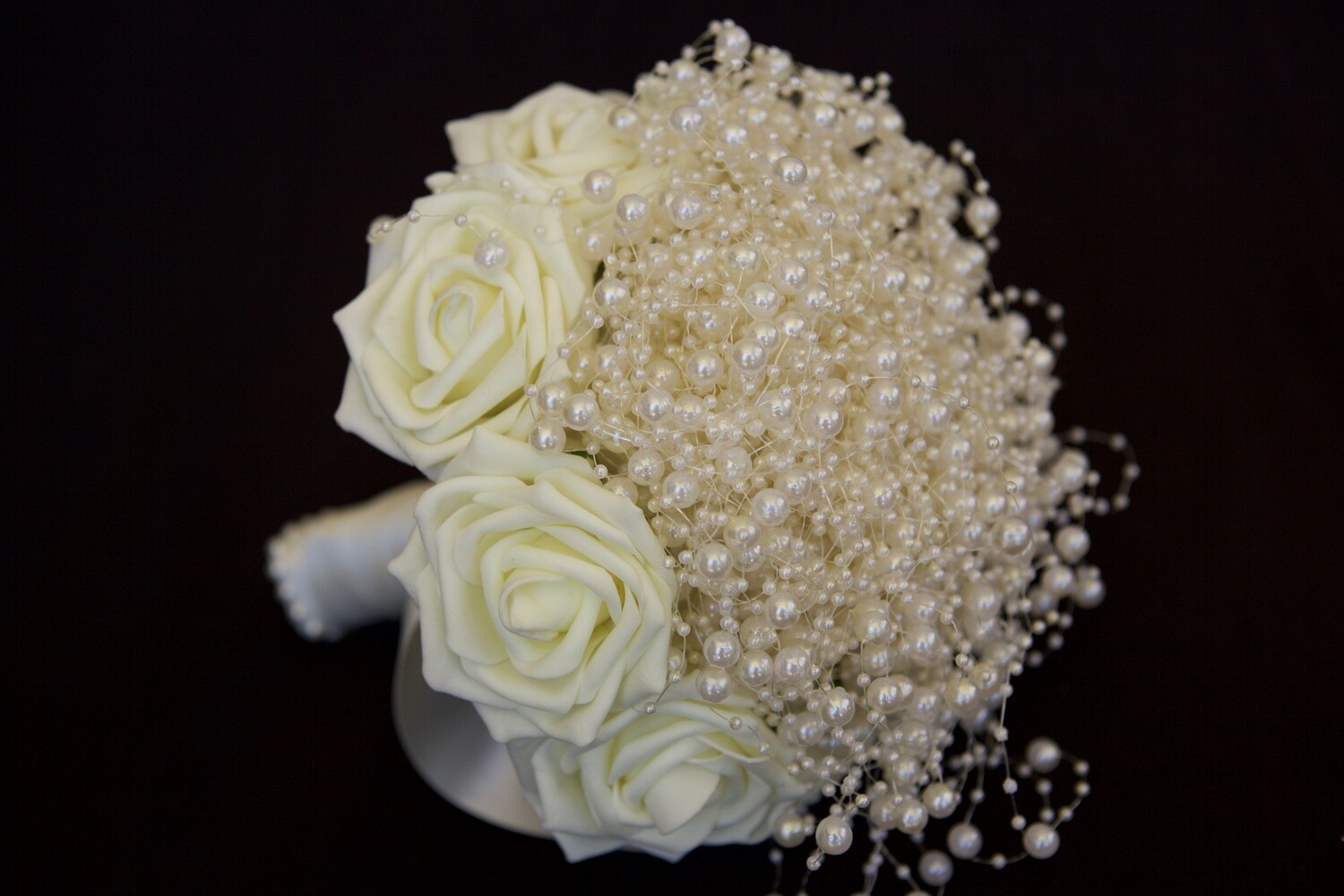 MILLEY - Ivory Rose & Pearl Bridal Bouquet