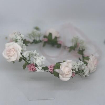 MILLIE - Pink & White Rose Flower Crown