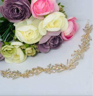 PEGGY - Gold Crystal Rhinestone Head Piece