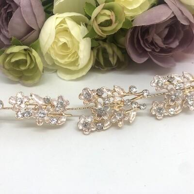 KELLY - Gold & Crystal Wedding Bridal Head Piece