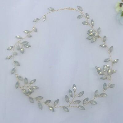 EFFIE - Gold & Crystal Wedding Bridal Vine Headpiece