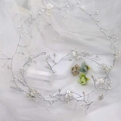 AMANDA - Pearl Wedding Bridal Hair Vine