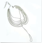 CHARISE - Silver Pair of Barefoot Sandal