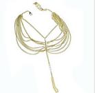 CHERISE - Gold Pair of Barefoot Sandal